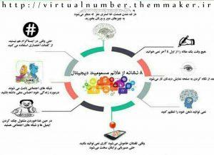 نشانه های مسمومیت دیجیتال